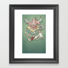 Happy Clown Framed Art Print