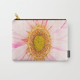 Pink flower with pink background - lovely girlish summer feeling Carry-All Pouch