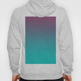 OCEANIC LOVE - Minimal Plain Soft Mood Color Blend Prints Hoody