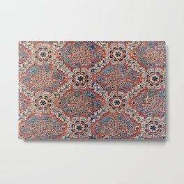 Ornate Terra Cotta Floral Metal Print