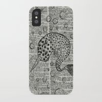 narwhal iPhone & iPod Cases featuring Narwhal by Shrone