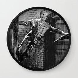 Jason Vorhees sings in the rain Wall Clock