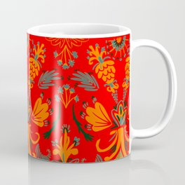 Flory Glory Red Vintage Coffee Mug
