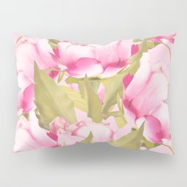Pink Peonies on a pink background - #Sociey6 #buyart Pillow Sham