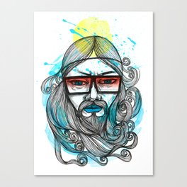 A Man with Shades and Beard Canvas Print