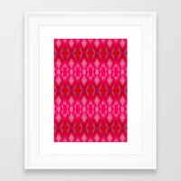 ikat Framed Art Prints featuring Ikat by Amy Sia