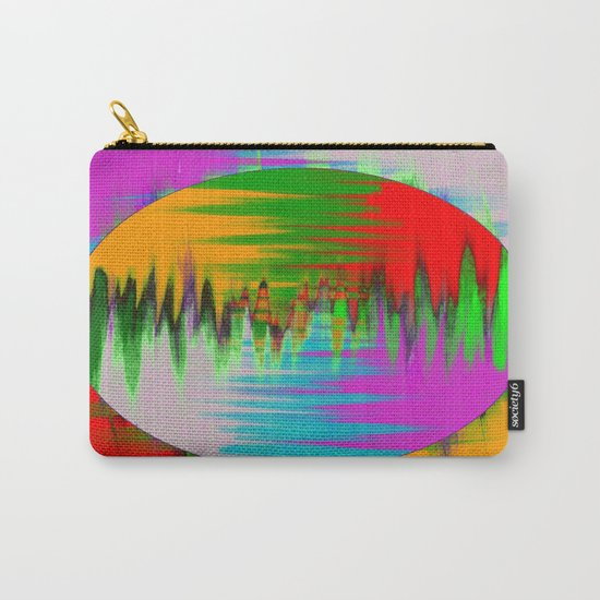 Colour Interference - Abstract colour painting Carry-All Pouch