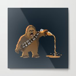 Chewie Pours a 40 Metal Print