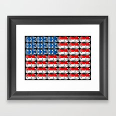 VW Stars & Stripes Framed Art Print