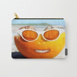 Beached Orange Carry-All Pouch