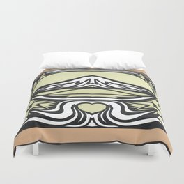 To Mt. Hood with Love Illustration Duvet Cover