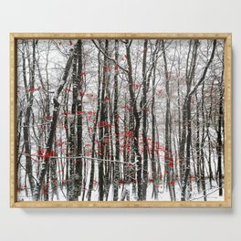 winter forest Serving Tray