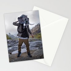 Sneakerhead Elephant Gas Mask by Freehand Profit Stationery Cards