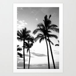 Palm Tree Noir #7 Art Print