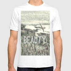 Beauty of Life Mens Fitted Tee White MEDIUM