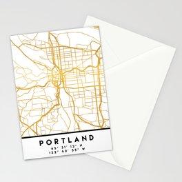 PORTLAND OREGON CITY STREET MAP ART Stationery Cards