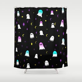 colorful ghost Shower Curtain