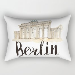 Berlin watercolor Rectangular Pillow