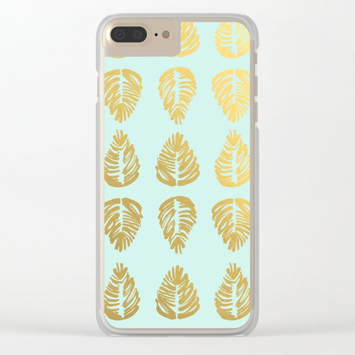 Gold Palms Deluxe Clear iPhone Case