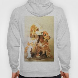two dogs spaniel Hoody