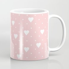 Pin Point Hearts Blush Coffee Mug