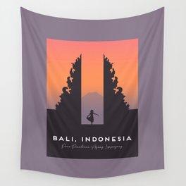 Bali Temple, Indonesia, Pura Penataran Agung Lempuyang Travel Poster Wall Tapestry