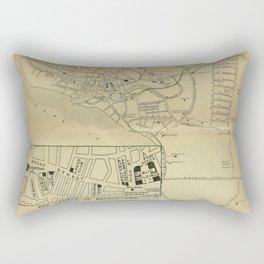 Vintage Bridgetown Barbados Map (1914) Rectangular Pillow