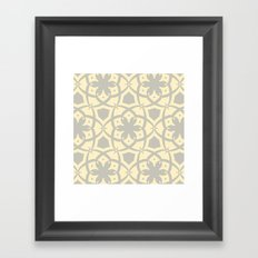 Pattern Print Edition 1 No. 1 (yellow and gray) Framed Art Print