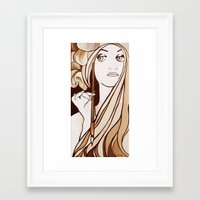 mucha Framed Art Prints featuring My Mucha by Little Bunny Sunshine