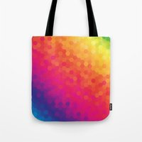 honeycomb Tote Bags featuring honeycomb by snja
