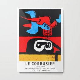Le Corbusier 1963 Exhibition Poster, Artwork for Wall Art, Prints, Posters, Tshirts, Men, Women, Youth Metal Print