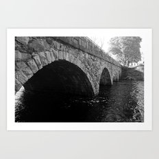 The Pleasant Street Bridge Art Print