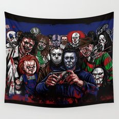 Horror Villains Selfie Wall Tapestry