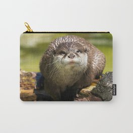 Otter on A Tree Trunk Carry-All Pouch
