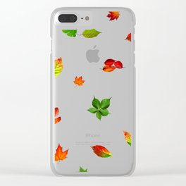 Colorul autumn leaves Clear iPhone Case