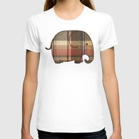 plaid T-shirts featuring Plaid Elephant  by Terry Fan
