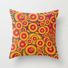 Jelly donuts invasion Throw Pillow