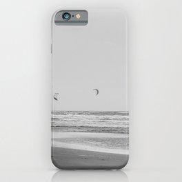 Kite surfing | Landscape Photography print |Dutch Beach| Black and White Wall art Art print iPhone Case