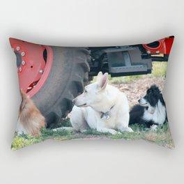 Farm Dogs Rectangular Pillow