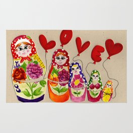From Russia with Love Russian Dolls Rug