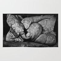 ganesha Area & Throw Rugs featuring Ganesha by Falko Follert Art-FF77