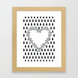 Love you (variation 05) Framed Art Print