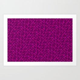 Control Your Game - Tradewinds Fuschia Art Print