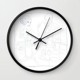 Brunch Napkin Sketch Wall Clock
