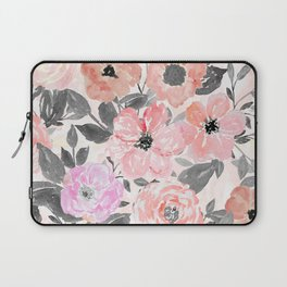 Elegant simple watercolor floral Laptop Sleeve