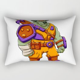 Bull warrior cartoon illustration Rectangular Pillow
