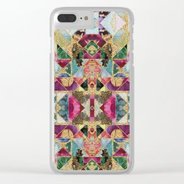 Multicolored abstract pattern Clear iPhone Case