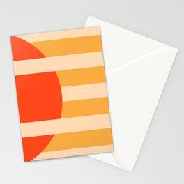 GEOMETRY ORANGE I Stationery Cards