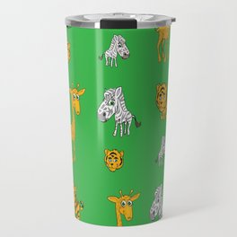 Cute Jungle Animals Pattern  Travel Mug