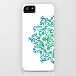 Green gradient mandala iPhone Case